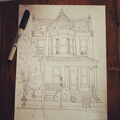 drawing of our house