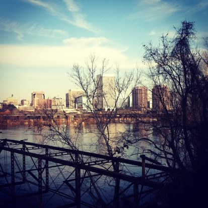 view of richmond from belle isle