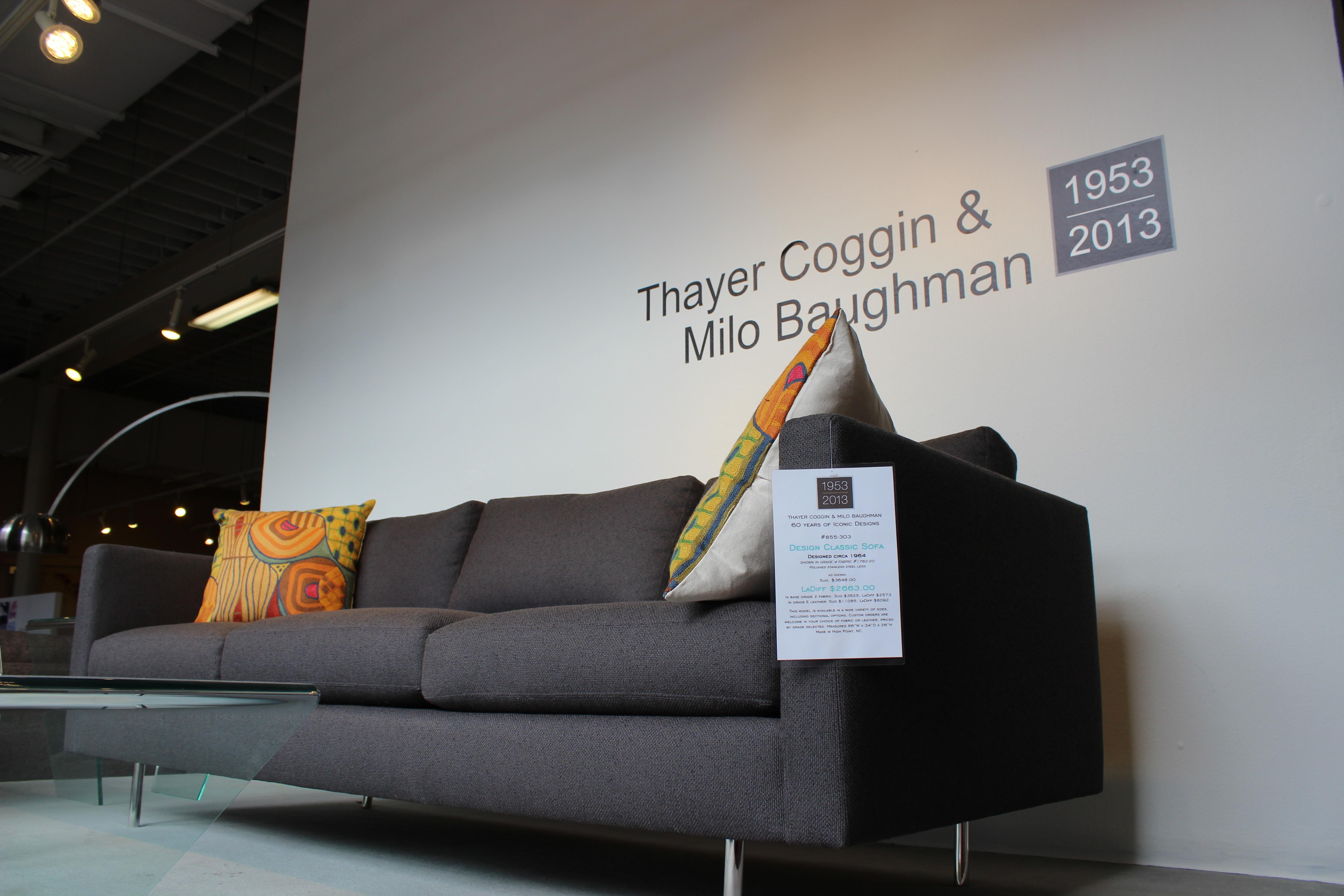 Milo Baughman Thayer Coggin Mod Furniture Exhibit at LaDiff