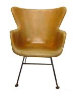 1950s Wingback Fiberglass Arm Chair