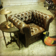 Odd Couple Shop leather chair