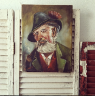 old man painting from The Odd Couple Shop