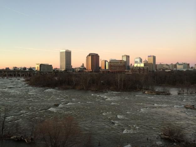 Richmond Sunset View from Floodwall